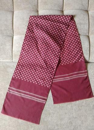 Мужской шелковый шарф цвета марсала