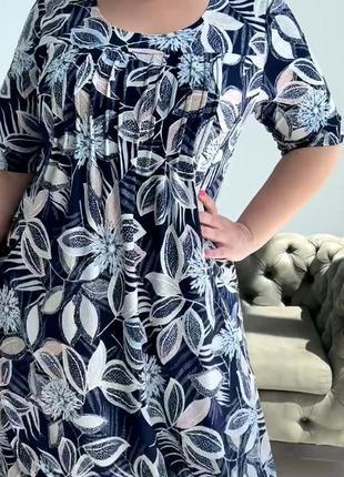 Летнее платье размеры 52, 54, 56, 58 (21-03)