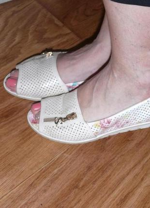 Туфли балетки для лета размер 38