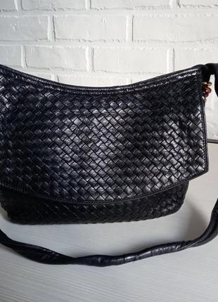 Шикарная сумка из плетеной кожи cosci