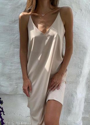 Платье- майка, платье шёлковое, сарафан
