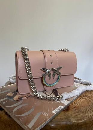 Сумка pinko mini icon jewel vitello seta кожа оригинал