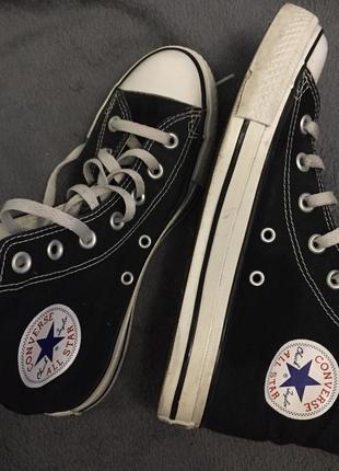 Кеды высокие черные converse