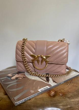 Pinko love mini icon quilted shoulder bag nappa leather кожа оригинал