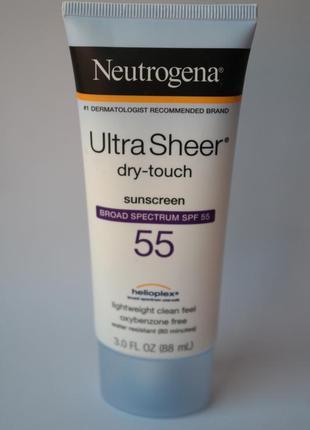 Neutrogena легкий безмасляный солнцезащитный крем spf 55