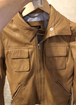 Кожаная куртка оригинал massimo dutti