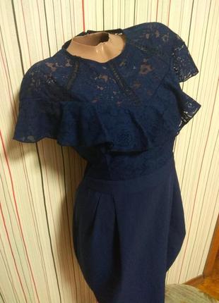 Нарядное платье с ажурной вставкой asos,нарядна сукня карандаш,плаття нарядне міді