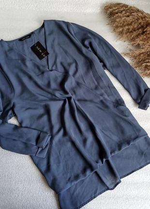 💢 легесенька , неймовірна блуза , дуже гарного кольору ,із подовженою спинкою , new look 💢