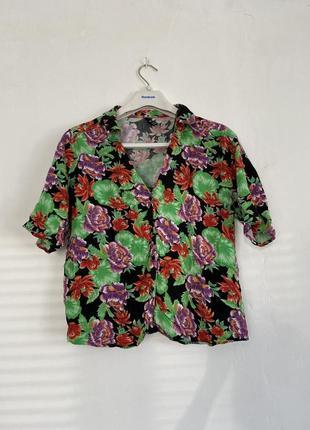 Цветная гавайская рубашка zara