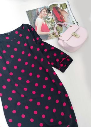 Віскозне плаття міді прямого крою в горошок від next розмір l2 фото