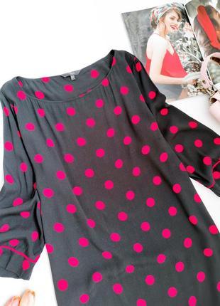 Віскозне плаття міді прямого крою в горошок від next розмір l3 фото