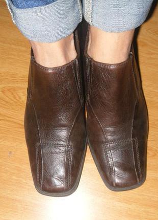 Удобные ботинки на каждый день кожа 27 см