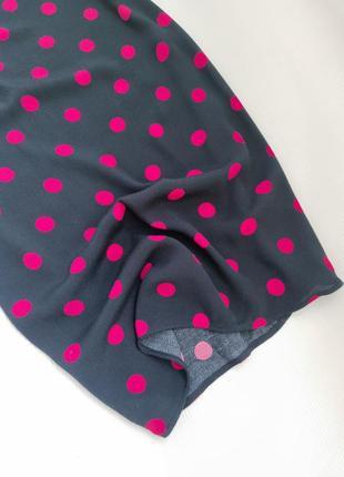 Віскозне плаття міді прямого крою в горошок від next розмір l4 фото