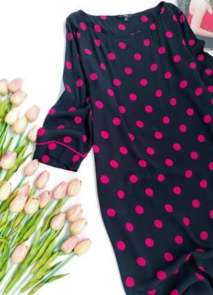 Віскозне плаття міді прямого крою в горошок від next розмір l5 фото