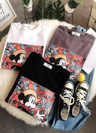 Стильные футболки, р. уни 42-46, хлопок+полиэстер, черный, лиловый, белый