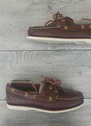 Timberland мужские кожаные туфли топ сайдеры оригинал
