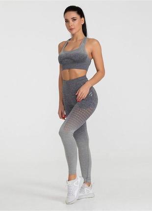 Спортивный костюм с леггинсами лосины топ костюм для йоги костюм для фитнеса тайтсы лосины с пяткой crivit
