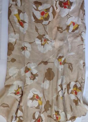 Длинная льняная юбка хороший размер
