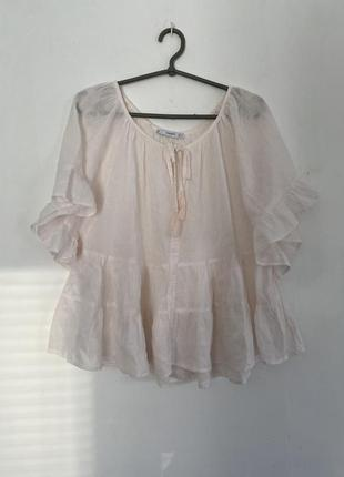 Прозрачный топ/блуза с рюшами/воланами