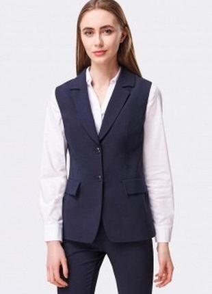 Жилетка безрукавка zara удлиненная коасическая жилетка пиджак без рукава
