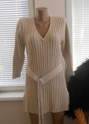 Платье-туника в рубчик next