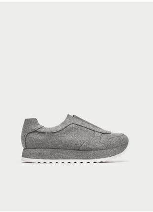 Фетровые кроссовки zara