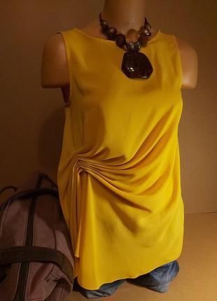 Желтая блуза zara. яркая желтая кофточка. нарядная блуза zara