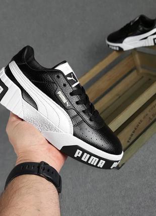 Женские кроссовки puma cali чёрные с белым / жіночі кросівки пума чорні з білим 36-41 розмір