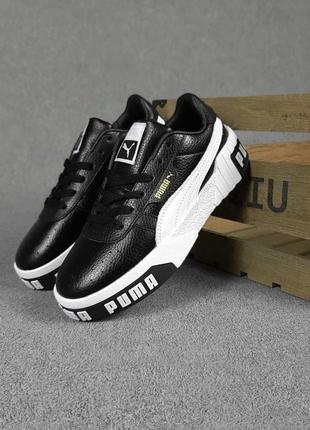 Женские кроссовки puma cali чёрные с белым / жіночі кросівки пума чорні з білим 36-41 розмір7 фото