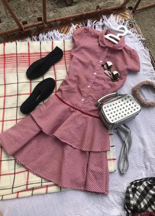 Трендове плаття плаття в клетку сукня спортивне платье міді сарафан