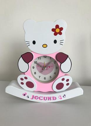 Часы, настольные часы, часы неваляшка, настольные часы hello kitty.