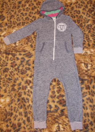 Пижама кигуруми слип человечек ромпер на 6-7 лет рост 116-122 см