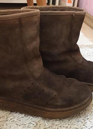 Кожаные замшевые adidas original сапоги угги сапожки ugg
