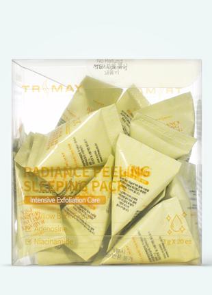 Освітлююча пілінг-маска trimay radiance peeling sleeping pack
