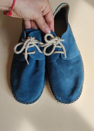 Летние замша кожаные туфли 46
