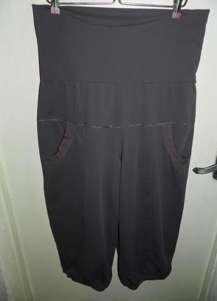 Трикотажные-масло,стрейч укороченные брюки-капри,бриджи с утяжкой и карманами,батал1 фото