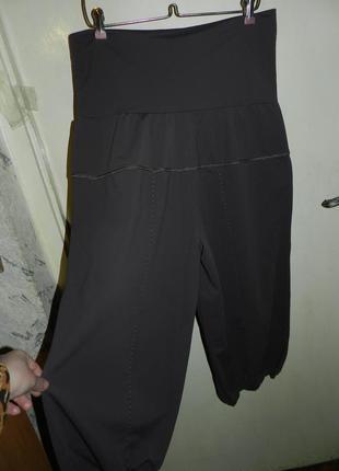 Трикотажные-масло,стрейч укороченные брюки-капри,бриджи с утяжкой и карманами,батал5 фото