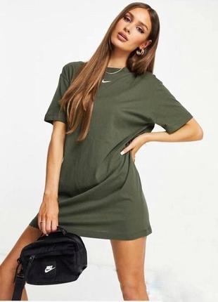 Платье-футболка, размер:42-46, чёрное,хаки; 51059old