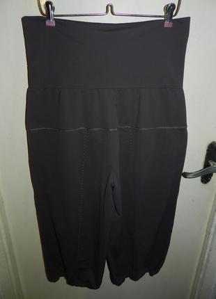 Трикотажные-масло,стрейч укороченные брюки-капри,бриджи с утяжкой и карманами,батал3 фото