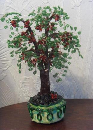 Дерево калины из бисера