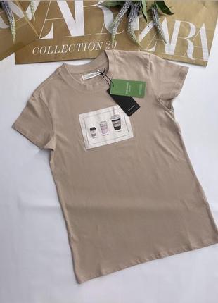 Хлопковая футболка с принтом. reserved.