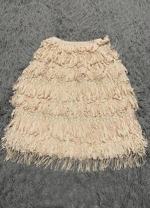 Невероятная юбка с рюшами и бахромой