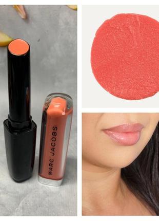 Помада marc jacobs beauty enamored hydrating lip gloss stick в оттенке peach