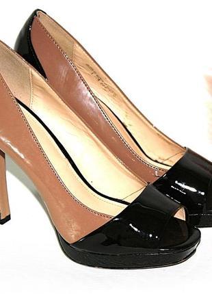 Босоножки новые сток квадратный носок шпильки высокий каблук graceland 38р (к045)
