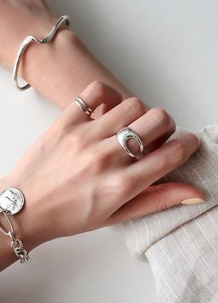 Стильное кольцо асимметрия серебро 925 / большая распродажа!