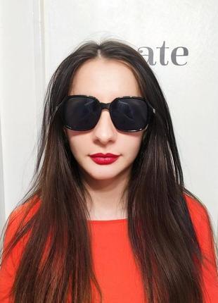 Классные черные солнцезащитные очки тренд окуляри чорні сонцезахисні