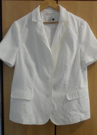Супер белый брендовый джинсовый пиджак жакет  лен