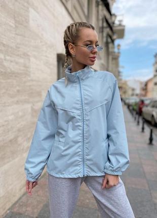 Ветровка женская куртка легкая демисезон лето тонкая белая розовая голубая