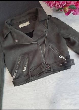 Куртка косуха замшива zara 🌿