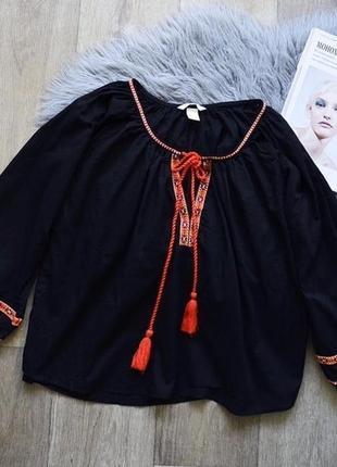 Блузка-вишиванка h&m